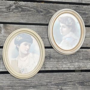 Vintage beauties framed prints w/vintage frames